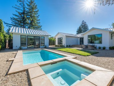 Photo for Brand new home and guest house in downtown st. helena with pool