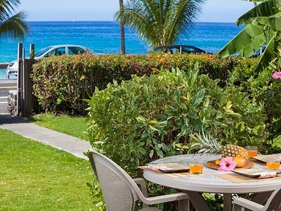 "Photo for Amazing Kona ""Ocean View"" Condo #A-1 ~ Steps From Magic Sands Beach!"