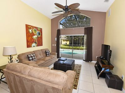Photo for Beautiful 5 Bed Gated Pool Home At Emerald Island Resort