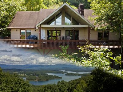 Photo for Chateau Chatuge Beautiful 3/3 cabin w/Mtn Views, Game Room, hot tub.