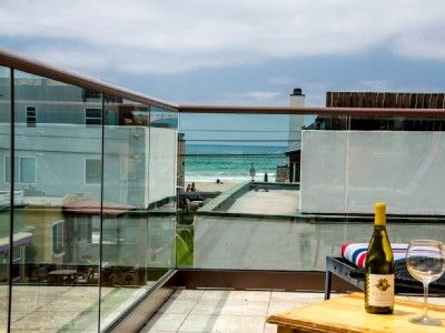 Relax with a bottle of wine and enjoy the scenic views of the Pacific Ocean.