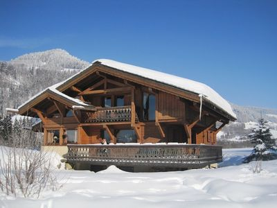 Photo for Beautiful authentic Alpine Chalet for Skiing and Summer Activities at Megeve
