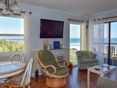 Photo for Oceanfront. 3 BR-2.5BA  K, Q, 2T. Washer/Dryer. WiFi.  Outdoor Pool. No Bikes.