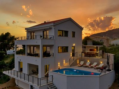 Photo for Villa Romance with pool in Makarska with sea view and four bedrooms
