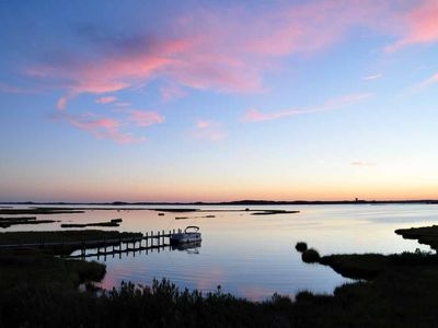 Photo for Lovely Bayfront Townhome w/Community Pool, Private Beach in State Park, Pets OK