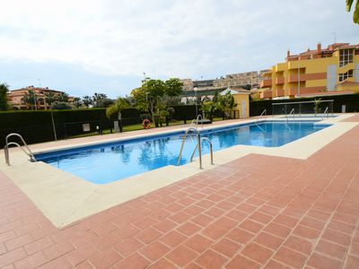 Photo for Modern apartment with pool walking distance to la Cala de Mijas town & beach!