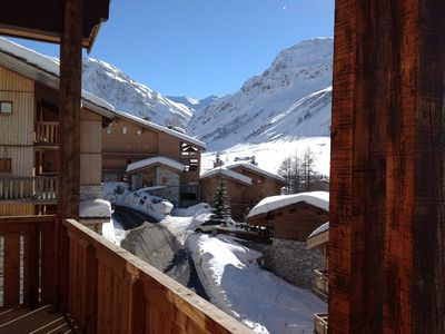 Photo for VAL D 'ISERE: LAST floor GRAND DUPLEX Skiing with feet 2 PARKING covered.