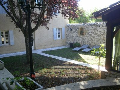 Photo for House + studio included in Monpazier in the Dordogne10pers, private pool, garden