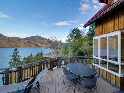 Photo for Lovely home on lakefront w/ private hot tub & dazzling Lake Chelan views!