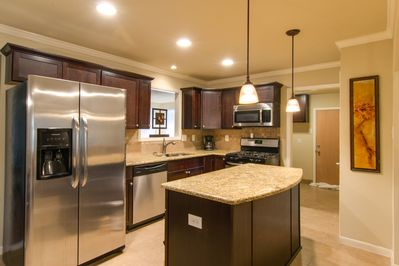 Newly remodeled and stocked kitchen