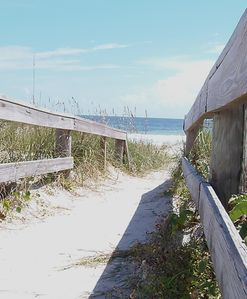 Beach walkover only 50 footstep from the deck.  easy access