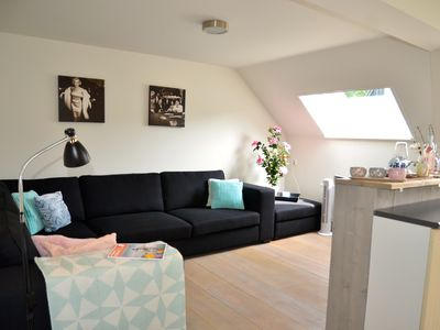 Photo for BERGEN: Beautiful apartment with its own fenced terrace. 2 minutes walk to the center!
