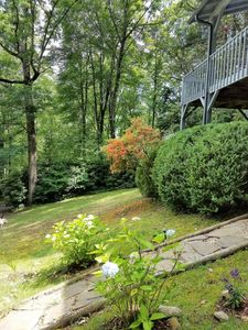 Photo for pet friendly getaway on a 4 acre secret, secluded mountain ridge.