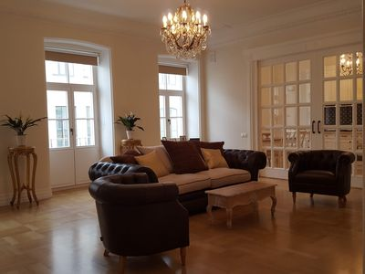 Living room - with sliding doors closed