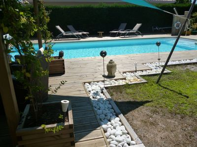Photo for Beautiful villa in a quiet residential area with large pool