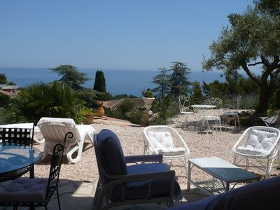 Photo for Charming 2 Rooms 75 m2 with Splendid sea view and Immense RDJ. Beach at 300 m.