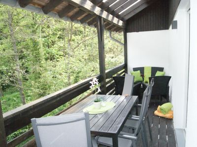 Photo for BachBlick6 - Living pleasure with wellness bath and balcony overlooking the Erkensruhr