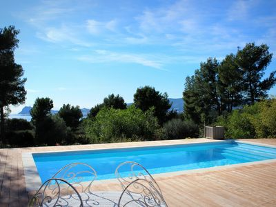 Photo for Charming Villa - Swimming pool - Stunning sea view - Peaceful - 3 bedrooms