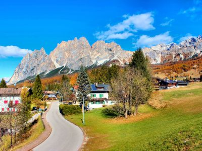 Photo for Cortina, sunny area 2 steps from the center