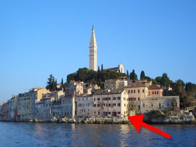 Photo for Beautiful sea location on the edge of the old town Rovinj