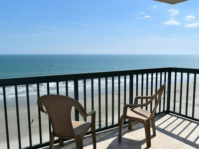Photo for JUNE DEALS!  $400 OFF PER WEEK.  Oceanfront. 4 BR/3 BA 3Q, 2T, QSS In/Outdoor pools, Lazy River, Jacuzzi, WIFI Kiddie pool, Fitness Room