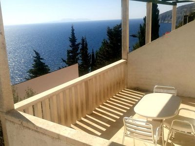 Photo for One bedroom apartment with terrace and sea view Sveta Nedilja, Hvar (A-111-b)