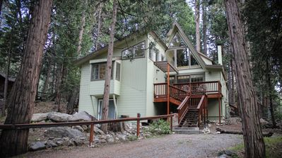 Photo for 2 Brooks  - Walk To Town, Seasonal Stream, Awesome Back Deck & Cool Architcture