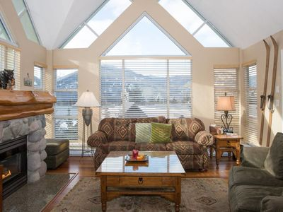 Photo for SKI IN AND OUT: 2BR Home, Sleeps 6 with Heated Pool+HotTub, Fireplace, BBQ and Patio