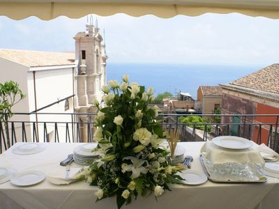 Photo for 'CASA ARANCI'   self catering villa, great sea views, close to piazza Duomo