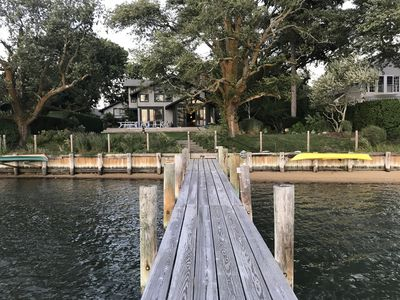 from dock looking to house