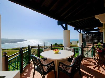 Photo for Port - Sea view 4 bedroom apartment in São Martinho do Porto with pools