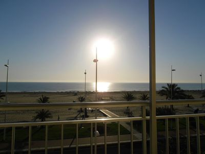 Photo for FIRST LINE BEACH of GANDIA - front view to the sea (Homeaway from 12/5/17)