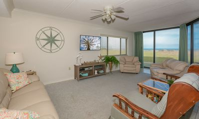 Photo for CH110- Ground floor, car free beach, beautiful oceanfront condo.
