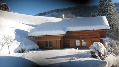 Photo for Chalet of charm independent comfort south-View on the chain of Aravis