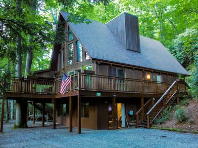 Photo for Mountain House overlooking South Toe River with fabulous view of Mt. Mitchell!