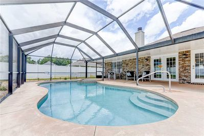 Incredible Pool All to Yourself - Jump into the private swimming pool, just you and the family!