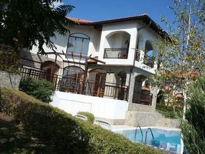 Photo for Villa with private pool, sea views, luxury resort The Vineyards, Aheloy (Pomorie)