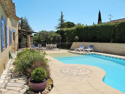 Photo for Nice apartment for 8 guests with A/C, private pool, WIFI, TV, balcony, pets allowed and parking