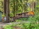 Exterior - Your home is nestled on a hillside amid lush redwoods.