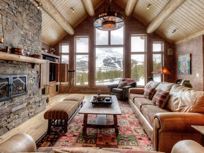 Photo for Spacious, ski-acessible Big Sky home with incredible mountain views, private hot tub and fireplace