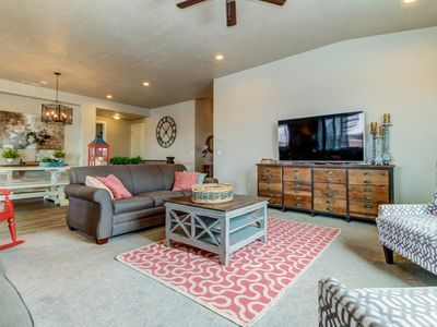 Photo for Large group getaway w/ private extra large hot tub, shared pool and gym!