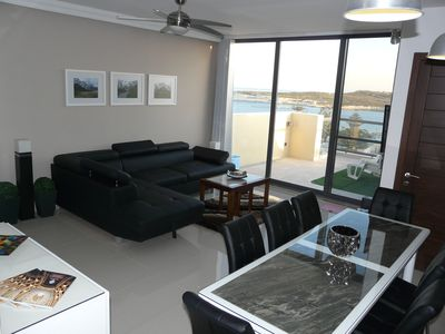 A luxury open plan with sea views
