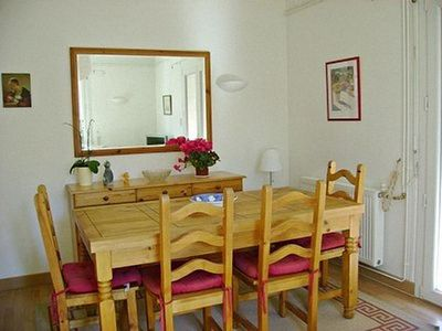 The traditional dining area