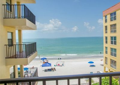 Gulf view from our balcony, where you can watch the dolphins playing!