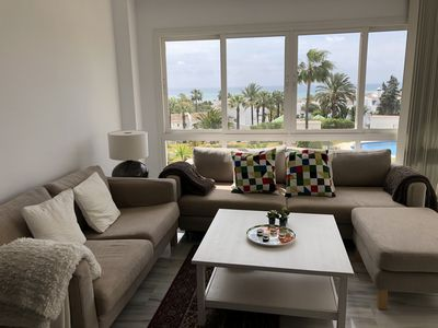 Photo for MODERN APARTMENT IN GARDENS OF CALAHONDA WITH BEAUTIFUL SEA VIEWS