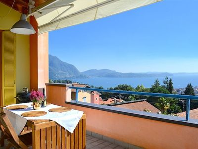 Photo for Cleopatra wonderful apartment in Verbania with lake view
