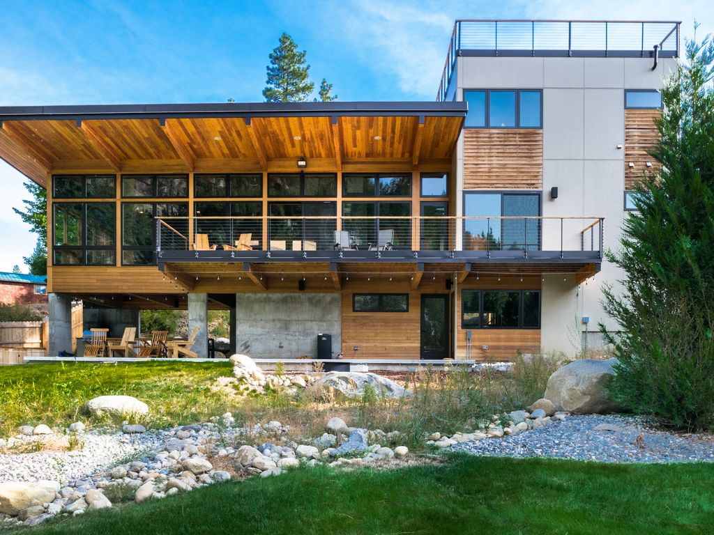 Eitelkeit Haus Modern Ideen Von Riverfront In The Icicle Valley Minutes To
