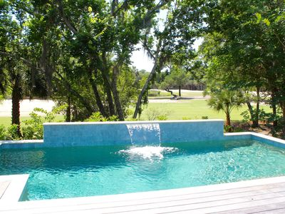 Photo for Private Pool, ping pong table, golf course view FRIDAY check in, close to beach