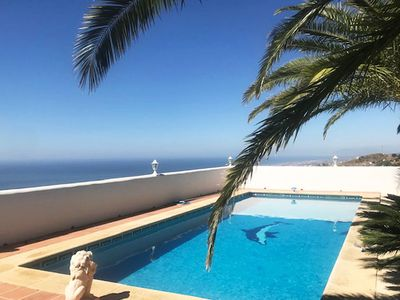 Photo for Intime country villa with stunning sea views and large pool under palm trees