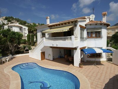 Photo for Detached holiday home private swimming pool and beautiful gardens in Moraira